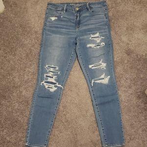 American Eagle Jeans - Faux Distress Details